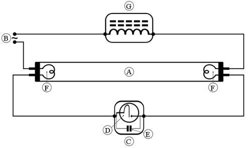 Схема подключения лампы