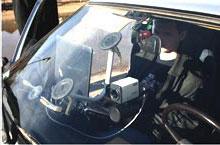 Камера видеорегистратора на патрульном автомобиле ГИБДД