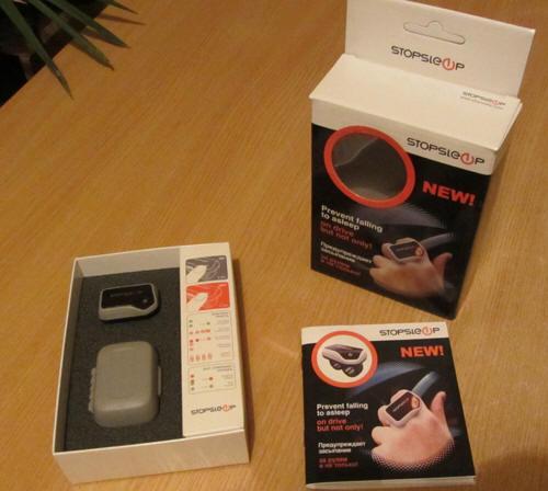 Упаковка Stop Sleep (Стоп слип) включает коробку, инструкцию и футляр для переноски